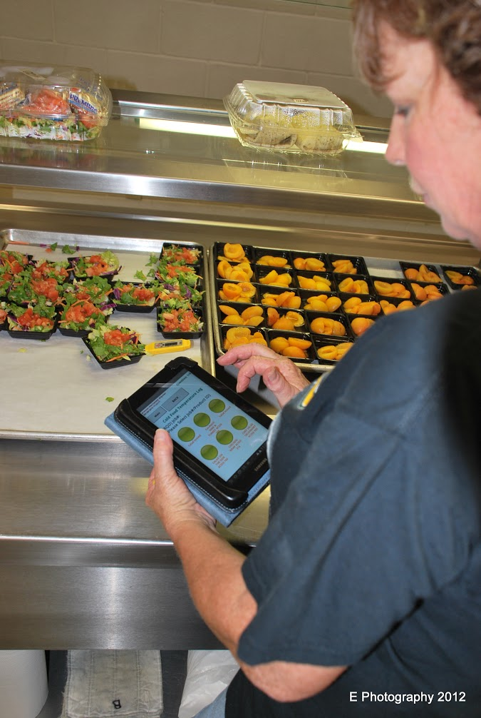 Android App in use in Cafetaria